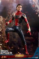 Hot Toys 1/6th MMS482 Tom Holland Spider-Man Avengers Infinity War Figure Dolls