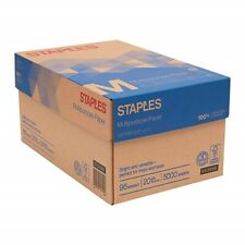 "STAPLES Multipurpose/Copy Paper 10-Ream Case 5,000 8.5x11"" Sheets Printer/Copier"