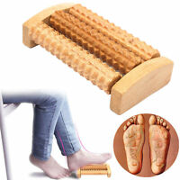 Wooden Roller Massager Tool Reflexology Hand Foot Back Body Therapy Relaxing SJ