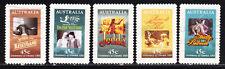 AUSTRALIA 1995 Centenary of cinema movie Adhesive Yv 1445 to 1449 Used very fine