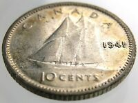 1941 Canada 10 Cents Silver Dime Circulated George VI Ten Cent Coin R544