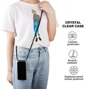 Clear Phone Case With String Holder Compatible With All phone Models