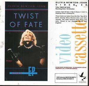 PRESS RELEASE SHEET for: Olivia Newton-John - Twist Of Fate VHS Video (1983) EX