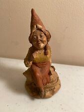 """Tom Clark Gnome Cairn Ed. #83 """"Bonnie"""" Scotland Shell Scotch Bonnet 1984 No Coa"""