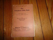 Polyphase  Slide Rule Manual  Keuffel & Esser 1924