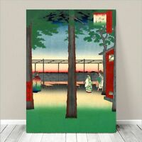 "Beautiful Japanese Landscape Art ~ CANVAS PRINT 36x24"" HIROSHIGE Dawn at Kanda"