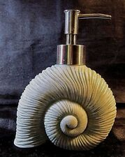 Resin Soap/Lotion Dispenser - Sea Foam Green - Shark Eye Shell - Oceana Spa