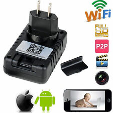 WiFi HD 1080P Spy Camera Socket Power Adapter DVR Motion Detect Video Record Cam