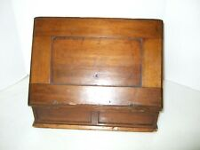 Antique Wooden Letter Box Writing Desk Small Desktop Size