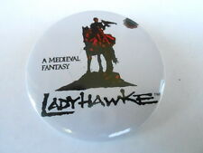 VINTAGE PINBACK BUTTON #76- 018 - LADY HAWKE