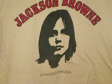 VINTAGE 1980'S JACKSON BROWNE BEIGE CONCERT TEE