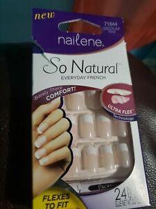 NAILENE - So Natural Ultra Flex Pink French Medium Nails - 1 Kit 71644