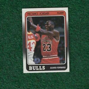 MICHAEL JORDAN - NBA HOF - 1988-89 - FLEER - BASE - CARD # 17 - CHICAGO BULLS