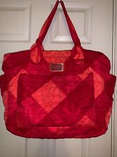 Marc by Marc Jacobs Red Orange Quilted Baby Bag & Changing Pad No Shoulder Strap