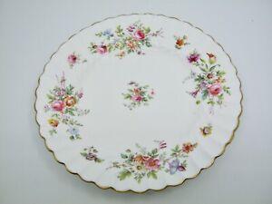 "Minton Marlow Salad Plate Globe Backstamp Pink Flowers Floral Scalloped 7 7/8"""