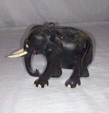 Vintage Made in India Elephant sculpture-figurine made of wood and bone