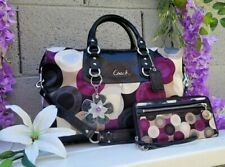 Coach 2pc Ashley 15446 snaphead LRG purse Satchel handbag shoulder bag + WALLET