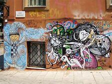 Impresión arte cartel Foto Graffiti Mural Street todos griego me nofl0139