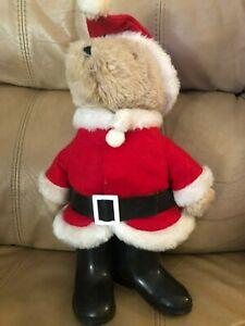 "Vintage Rare 13"" 1983 Christmas Paddington Bear Santa Claus by Eden Toys"