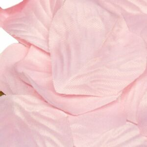 Light Pink Rose Petals Fabric Confetti (Bulk Bag of 1000 petals)