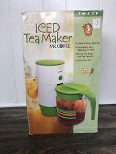 Vtg NIB Mr. Coffee Ice Tea Maker TM3 3 Quart Green Lid Pitcher Makes Iced Coffee