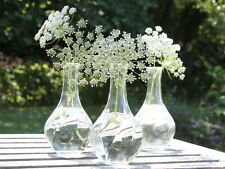 GLASS BUD VASE VINTAGE ANTIQUE SHABBY CHIC POT FRENCH MILK BOTTLE WEDDING TABLE