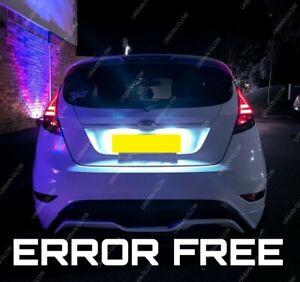 For Ford Fiesta MK7 MK7.5 MK8 LED White Number Plate Light Bulbs Xenon Upgrade