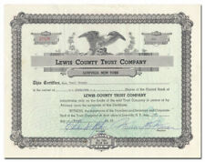 Lewis County Trust Company Stock Certificate (New York)