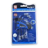 BlueSpot Tools 15372 Short Metric Hex Key Set 9 Piece 1.5 - 10mm