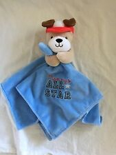 OKIE DOKIE Blue Baseball MOMMY'S ALL STAR Baby LOVEY Puppy Dog Rattle Blanket