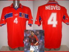 Czech Republic NEDVED Puma Shirt Jersey Football Soccer Adult XL 1998 Juventus H