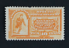10c Special Delivery Orange 1893 Scott #E3 Unused Hinged with Disturbed Gum