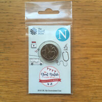 2018 N for NHS carded Royal Mint 10p a-z coin