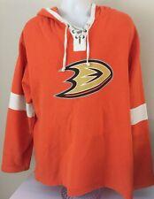 Old Time Hockey NHL Anaheim Ducks Lacer Hoodie Sweatshirt Size Large