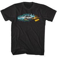 Back to The Future DeLorean Car Time Machine Painting Lightning Men's T Shirt