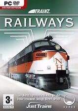 Trainz ferrocarriles PC DVD ROM Auran juego de computadora nuevas funciones de control de trenes