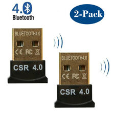 Bluetooth USB Adapter CSR 4.0 Dongle Bluetooth Receiver For PC Windows 10 2-Pack