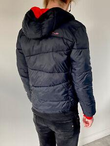 SPYDER Padded SKI PUFFER Hooded Jacket M Black/Red