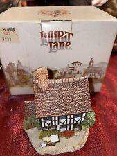 """Lilliput Lane """"Lace Lane"""" Cottage English and Welch w/Box"""