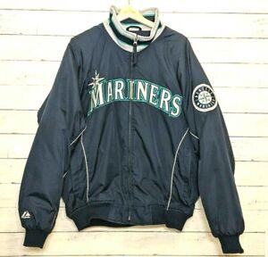 Vintage MLB 90s Seattle Mariners Mens Large Majestic Jacket  Rare EUC