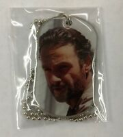 Walking Dead Season 3 Dog Tag Rick Grimes With Carabiner Sticker and Key Ring
