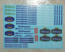 DECALS ROTHMANS GENERIQUES POUR BMW/OPEL/PORSCHE/RENAULT  RALLYE OU CIRCUIT 1/43