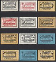 Collection of Kentucky State Revenue Taxpaid Fertilizer Stamps 12 Different