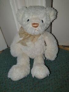 Gund Bear Mattie cream bear with bow