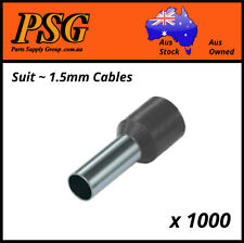 Cable Ferrules 1.5mm2 x 1000 pack, Bootlace, Pin Crimps, Wire Sleeves