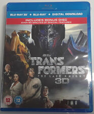 TRANSFORMERS: THE LAST KNIGHT Brand New 3D Blu-Ray + 2D + Bonus Disc 2017 Movie