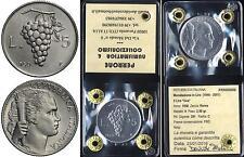 01478] REPUBBLICA ITALIANA - 5 LIRE UVA 1950 _ FDC _ PERIZIATA
