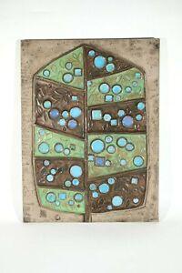60s Renate RHEIN Kunstkeramik ° 51 x 31 cm Wandbild ° Rosenthal Fliese ° Tile