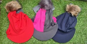 Hy Equestrian Hat Cover with Faux Fur Pom Pom **FREE UK POSTAGE**