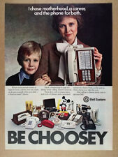 1978 Bell System Touch-a-matic Telephone Phone vintage print Ad